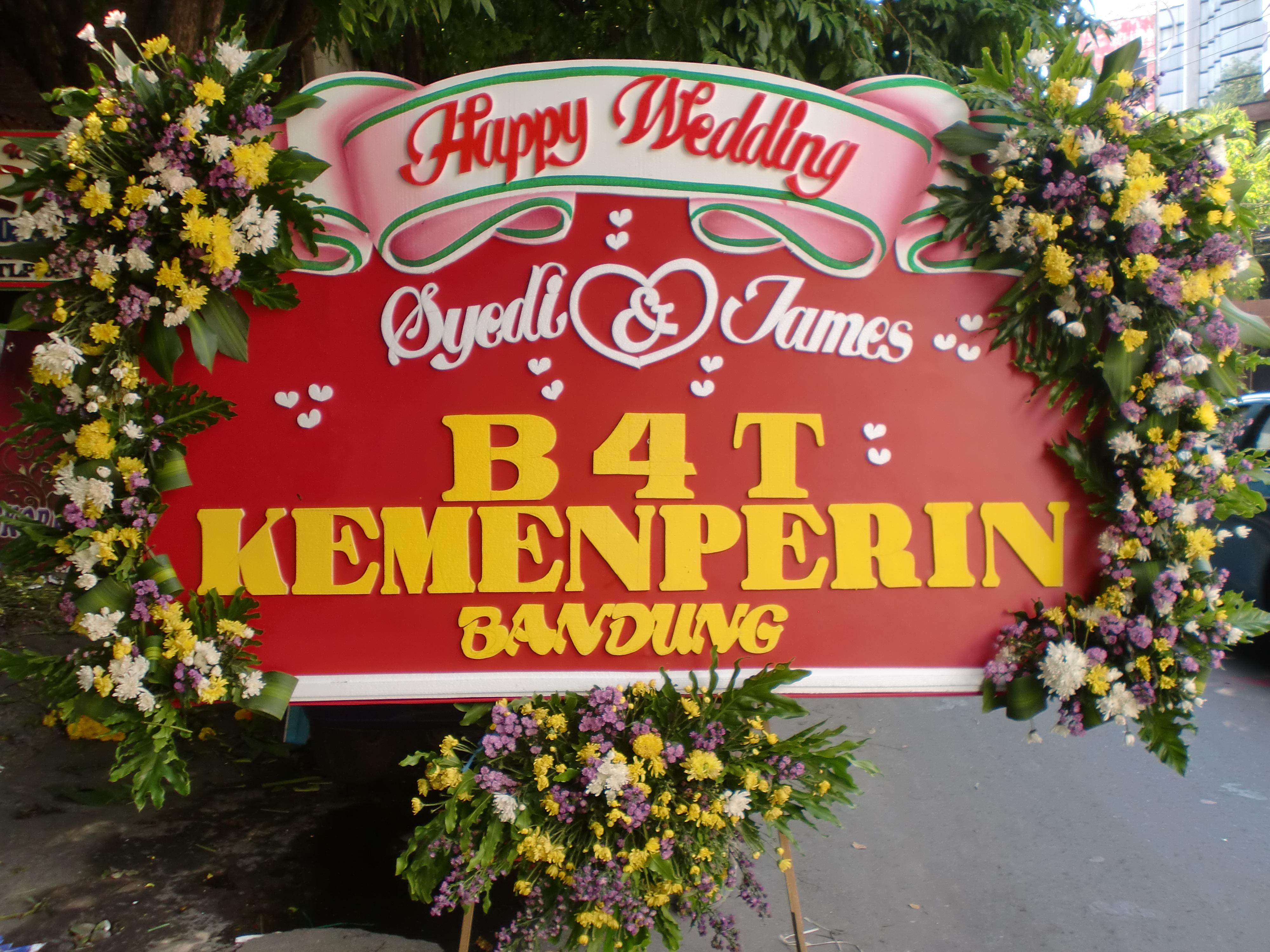 Karangan Bunga Wedding